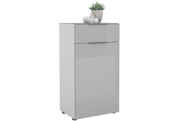 MAJA Möbel Schuhschrank mit Glastop Trend weiß matt Glas seidengrau Typ II
