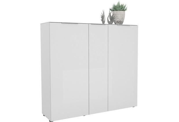 MAJA Möbel Schuhschrank mit Glastop Trend weiß matt Weißglas Typ I