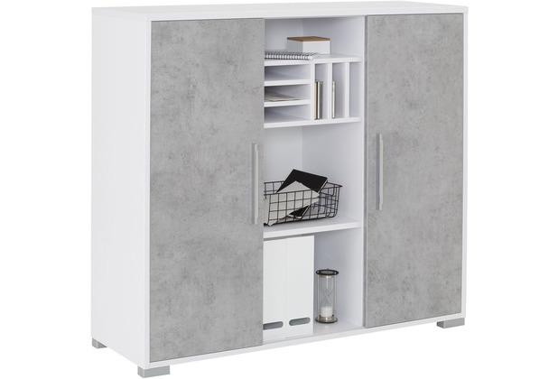 MAJA Möbel Sideboard System Icy-weiß steingrau