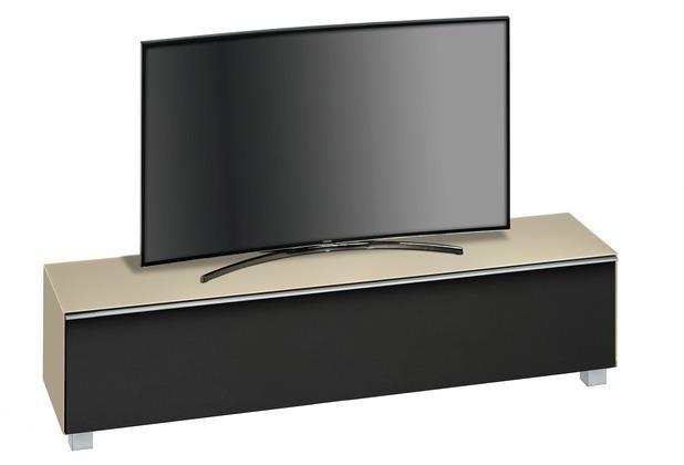 MAJA Möbel Soundboard Glas sand matt - Akustikstoff schwarz 1802 x 433 x 420 mm