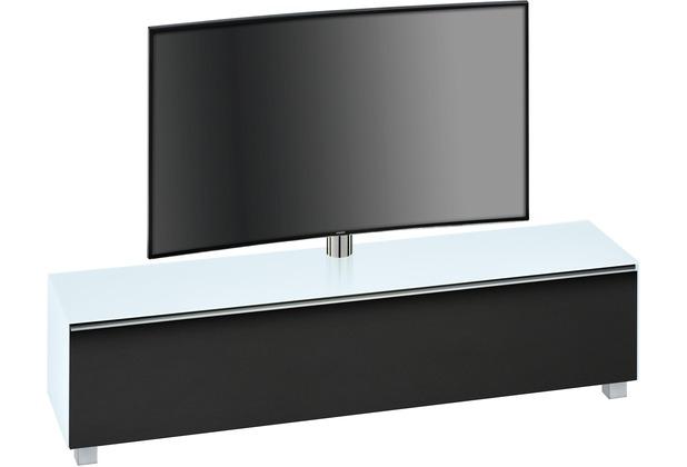 MAJA Möbel Soundboard SOUNDCONCEPT GLASS Weißglas matt - Akustikstoff schwarz 180,2 x 121 x 42 cm