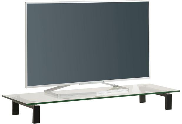 MAJA Möbel TV-Board Media Zubehör Metall schwarz Klarglas