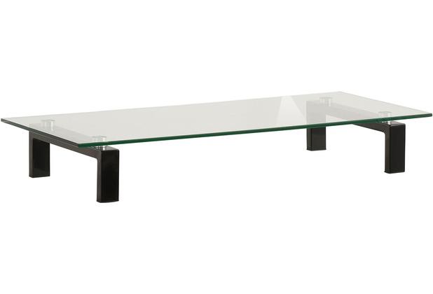 MAJA Möbel TV-Board Metall schwarz - Klarglas 820 x 125 x 350 mm