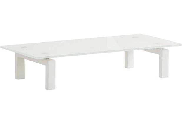 MAJA Möbel TV-Board MEDIA ZUBEHÖR Metall weiß - Weißglas 60 x 12,5 x 28 cm