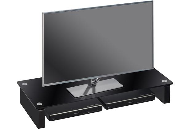 MAJA Möbel TV-Board MEDIA ZUBEHÖR Schwarzglas 82 x 12,2 x 35 cm