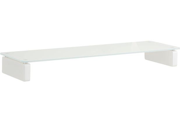MAJA Möbel TV-Board MEDIA ZUBEHÖR Weißglas 110 x 12,2 x 35 cm