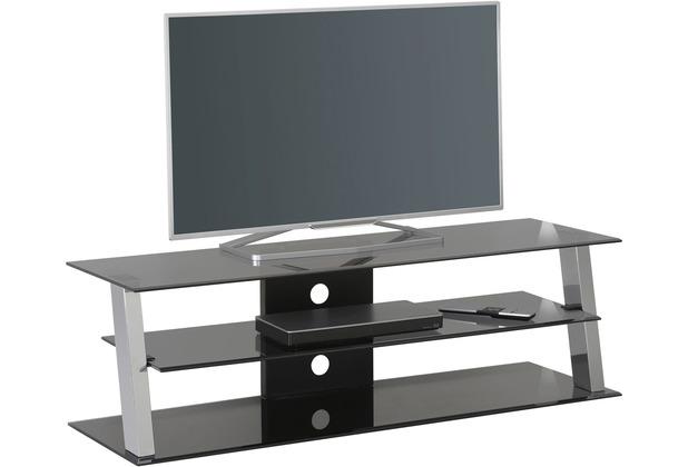 MAJA Möbel TV-Rack Media Modelle Metall Chrom Rauchglas