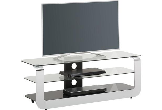 MAJA Möbel TV-Rack Media Modelle Glas Metall Chrom Schwarzglas Typ I