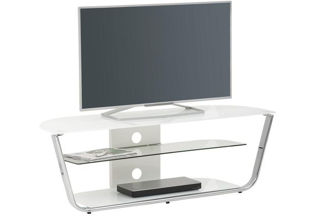 MAJA Möbel TV-Rack Media Modelle Glas Metall Chrom Weißglas