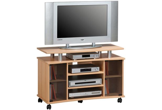 MAJA Möbel TV-Rack Media Modelle Holz Buche Alu-Optik