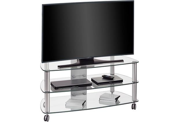 MAJA Möbel TV-Rack Metall Alu - Klarglas 1100 x 506 x 508 mm
