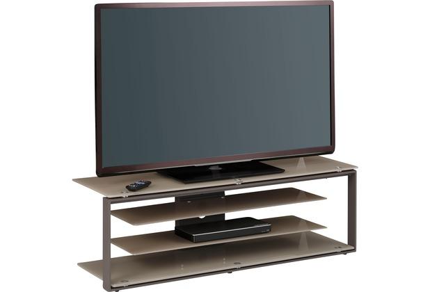 MAJA Möbel TV-Rack Metall anthrazit - Glas sand