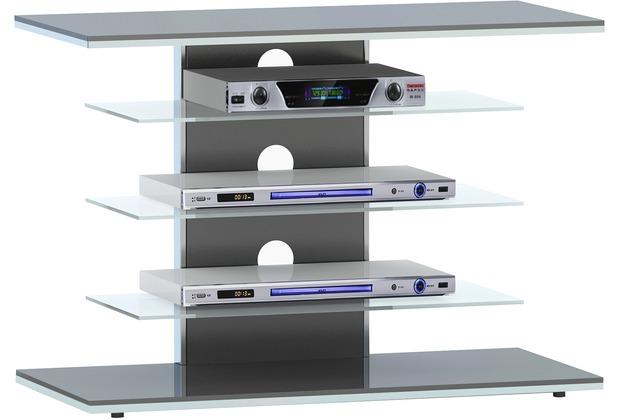 MAJA Möbel TV-Rack Schwarzglas 800 x 660 x 425 mm
