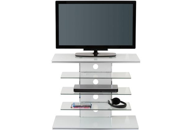 MAJA Möbel TV-Rack Weißglas 800 x 660 x 425 mm