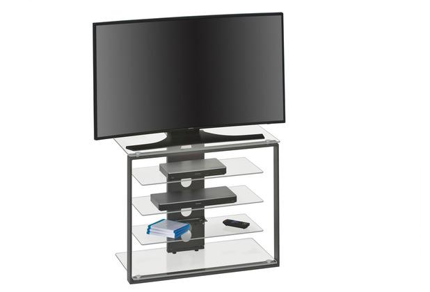 MAJA Möbel TV- und HiFi-Rack Media Modelle Glas Metall anthrazit Klarglas