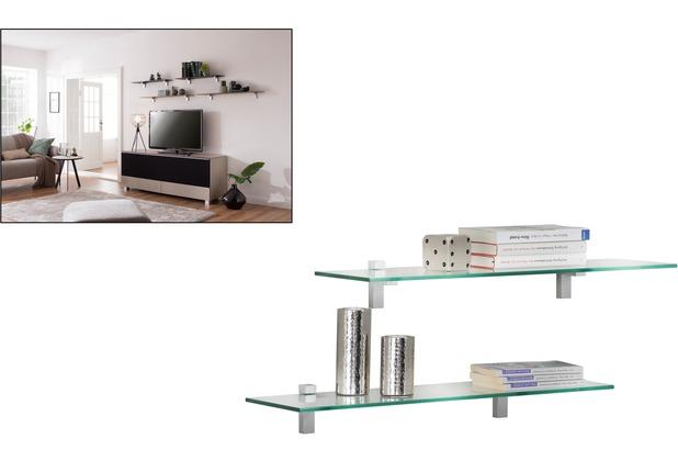 MAJA Möbel Wandregal Klarglas 700 x 8 x 200 mm