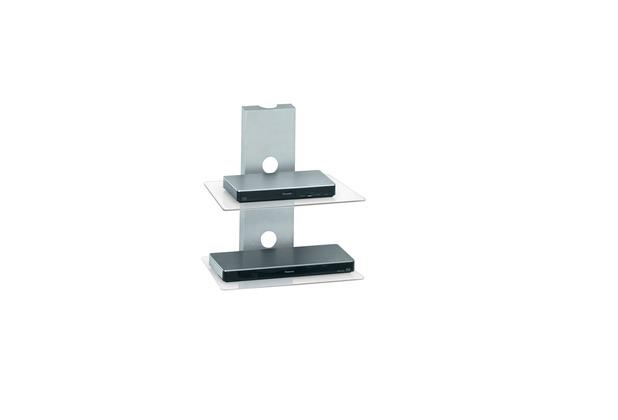 MAJA Möbel Wandregal Metall Alu - Klarglas 450 x 505 x 330 mm