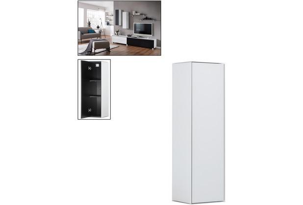 MAJA Möbel Hängeschrank SOUNDCONCEPT GLASS Weißglas matt 25 x 90 x 25 cm