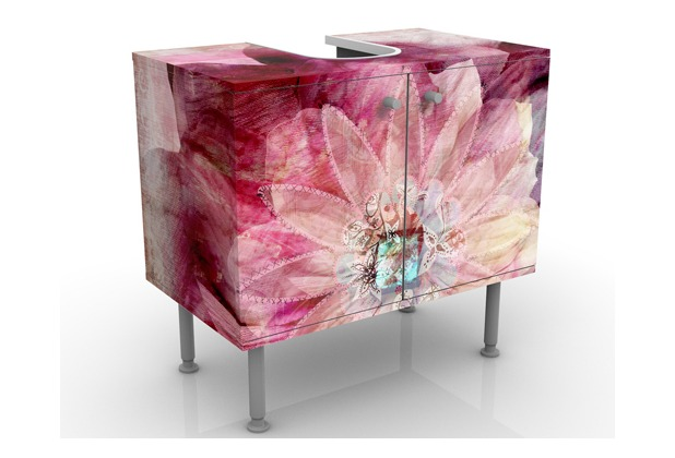 Apalis design waschtisch grunge flower waschbeckenunterschrank - Waschbeckenunterschrank design ...