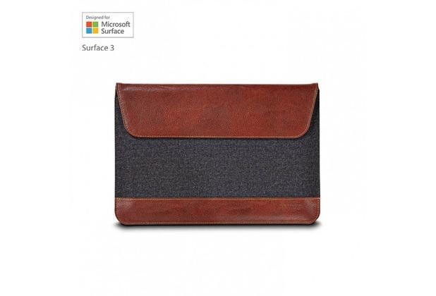 maroo Woodland Tasche/Sleeve Microsoft Surface 3 Braun/Grau MR-MS3207