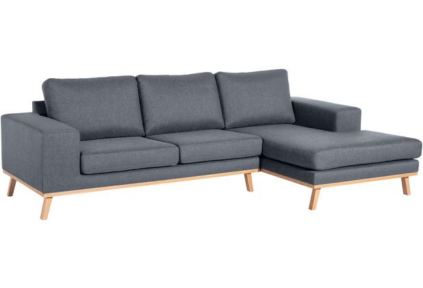 Max Winzer 2-Sitzer Sofa Alabama Denim links mit Longchair rechts Alabama Flachgewebe denim 268 x 152 x 85
