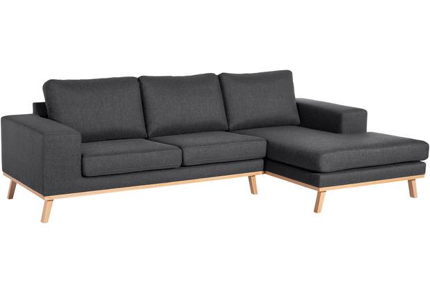 Max Winzer 2-Sitzer Sofa Alabama Graphit links mit Longchair rechts Alabama Flachgewebe graphit 268 x 152 x 85