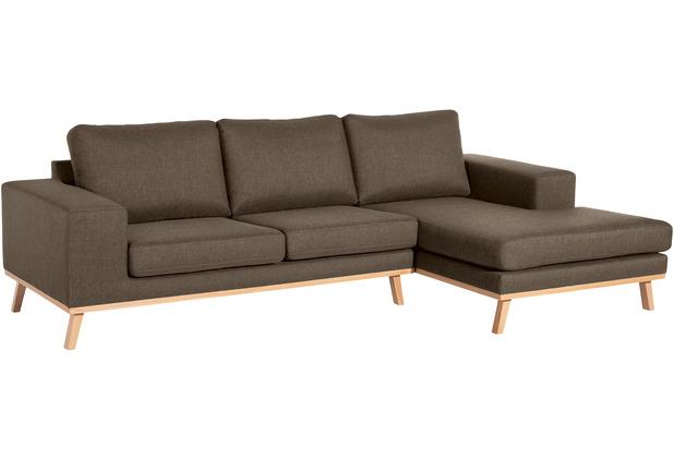Max Winzer 2-Sitzer Sofa Alabama Sahara links mit Longchair rechts Alabama Flachgewebe sahara 268 x 152 x 85