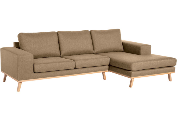 Max Winzer 2-Sitzer Sofa Alabama Sand links mit Longchair rechts Alabama Flachgewebe sand 268 x 152 x 85