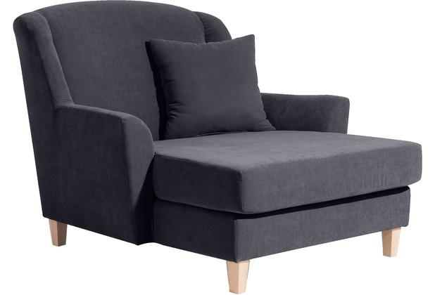 Max Winzer Big-Sessel inkl. 1x Zierkissen 55x55cm anthrazit 136  x  142  x  107