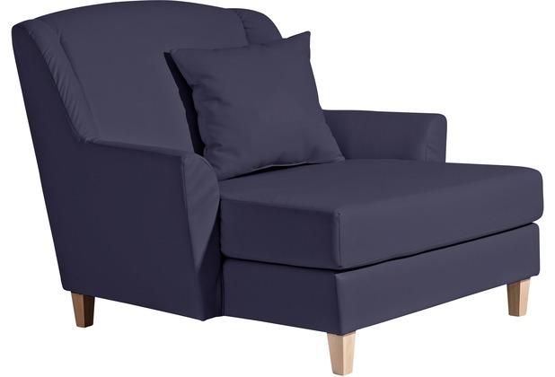 Max Winzer Big-Sessel inkl. 1x Zierkissen 55x55cm Judith Kunstleder dunkelblau 136 x 142 x 107