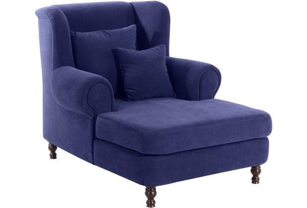 Max Winzer Big-Sessel inkl. 2x Zierkissen 55x55cm + 40x40cm blau 103 x 149 x 103