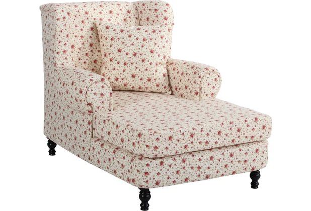 Max Winzer Big-Sessel inkl. 2x Zierkissen 55x55cm + 40x40cm Mareille Flachgewebe geblümt beige 103 x 149 x 103