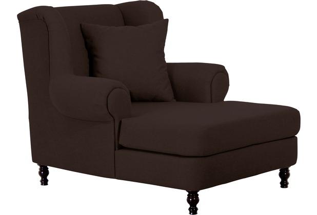 Max Winzer Big-Sessel inkl. 2x Zierkissen 55x55cm + 40x40cm Mareille Flachgewebe Leinenoptik schoko 103x149x103