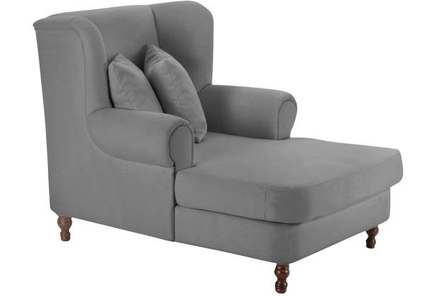 Max Winzer Big-Sessel inkl. 2x Zierkissen 55x55cm + 40x40cm Mareille Samtvelours grau 103 x 149 x 103