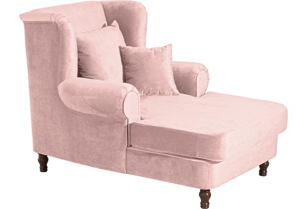 Max Winzer Big-Sessel inkl. 2x Zierkissen 55x55cm + 40x40cm Mareille Samtvelours rosé 103 x 149 x 103