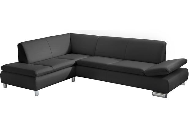 Max Winzer Ecksofa links mit Sofa 2,5-Sitzer rechts Terrence Kunstleder schwarz 270 x 190 x 76