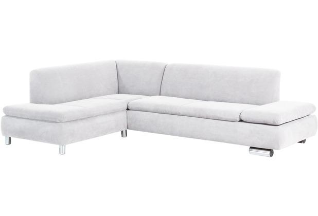 Max Winzer Ecksofa links mit Sofa 2,5-Sitzer rechts Terrence Veloursstoff creme 270 x 190 x 76