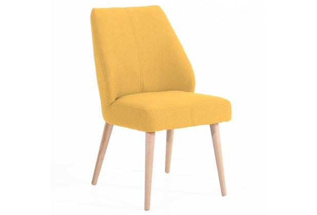 Max Winzer Esszimmersessel gelb 52 x 60 x 91