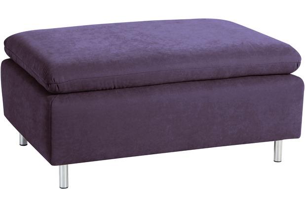 Max Winzer Hocker Marseille Veloursstoff violett 90 x 60 x 42