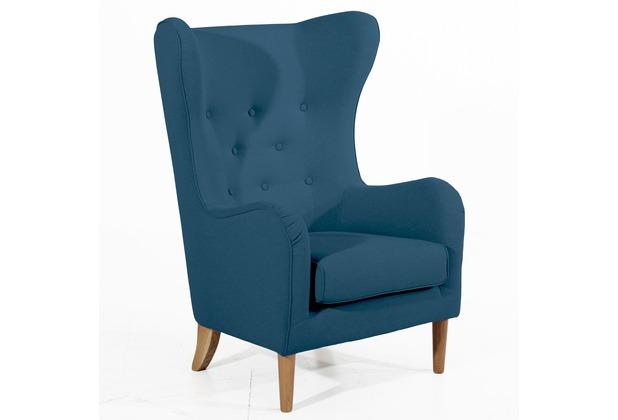 Max Winzer Ohrenbackensessel blau 83  x  83  x  111