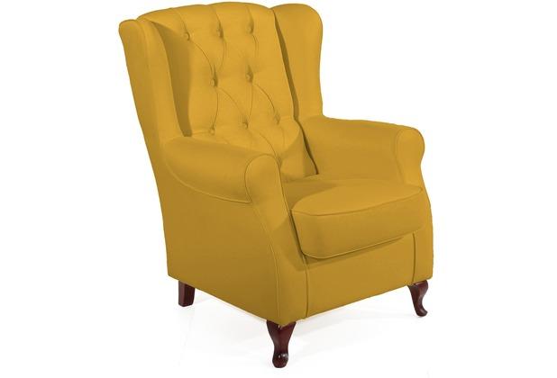 Max Winzer Ohrenbackensessel gelb 75  x  82  x  100