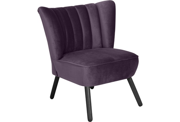 Max Winzer Sessel Alessandro Samtvelours purple 70 x 66 x 80