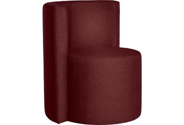 Max Winzer Sessel Circulum Flachgewebe rot 67 x 61 x 70