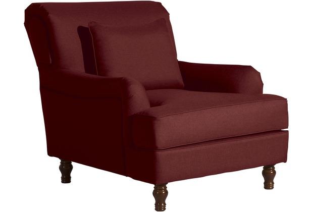 Max Winzer Sessel Cortez Flachgewebe rot 85 x 107 x 90