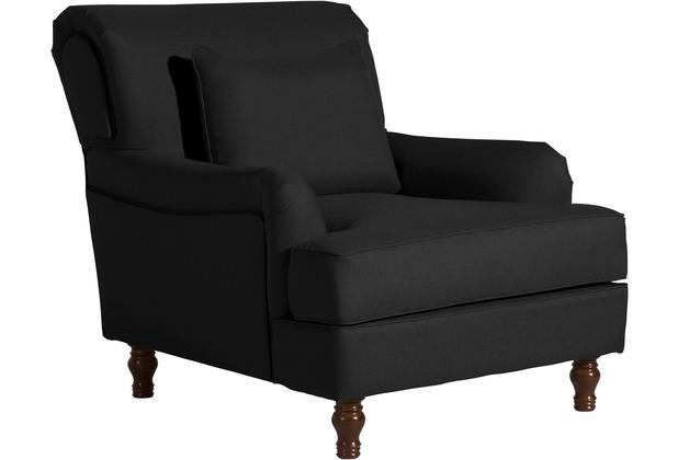 Max Winzer Sessel Cortez Flachgewebe schwarz 85 x 107 x 90