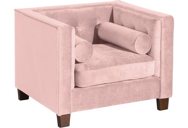 Max Winzer Sessel Jobbia Samtvelours rosé 99 x 85 x 74