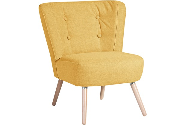 Max Winzer Sessel Neele Flachgewebe (Leinenoptik) gelb