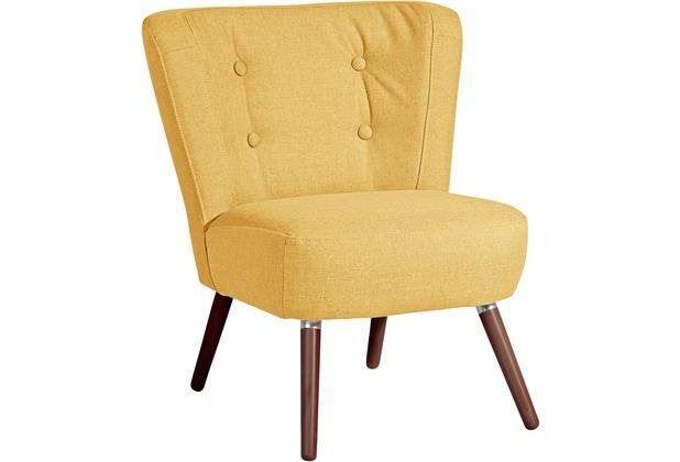 Max Winzer Sessel Neele Flachgewebe (Leinenoptik) gelb 69 x 68 x 80