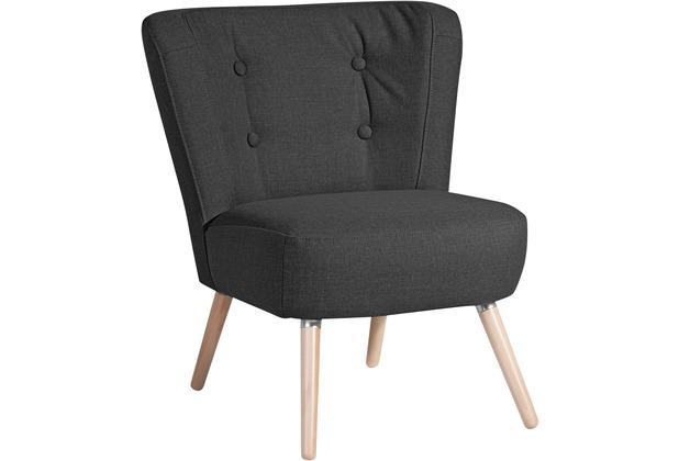 Max Winzer Sessel Neele Flachgewebe (Leinenoptik) schwarz