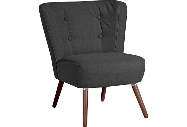 Max Winzer Sessel Neele Flachgewebe (Leinenoptik) schwarz 69 x 68 x 80